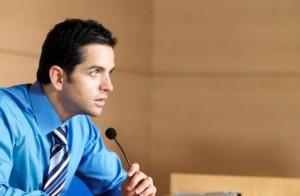 Witness testifying